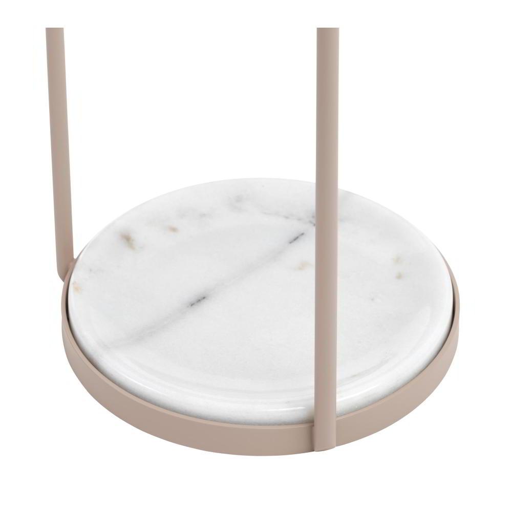 Detail vom PONTI Schirmständer Marmor-Platte Bianco Carrara weiß