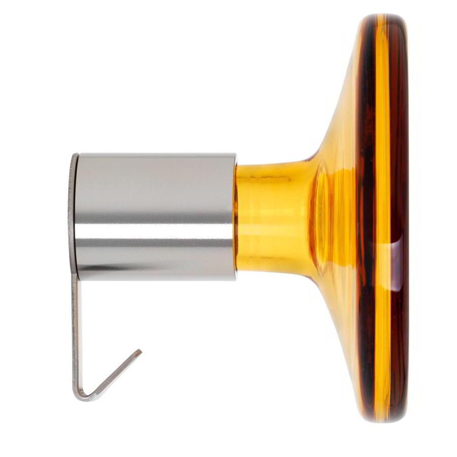 BULB Garderobenhaken amber / bernstein mit Mantelhaken