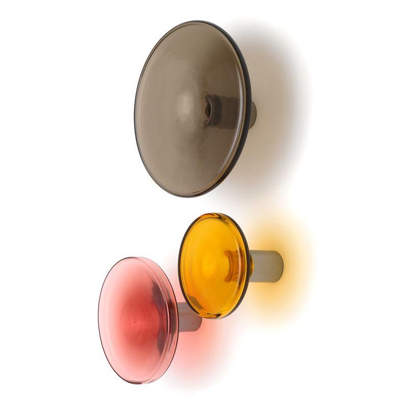BULB Garderobenhaken smoke, amber und red