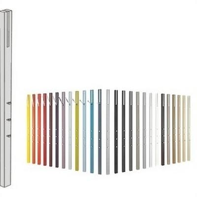 Line Garderobe HOCHGLANZ grau-192 weiß