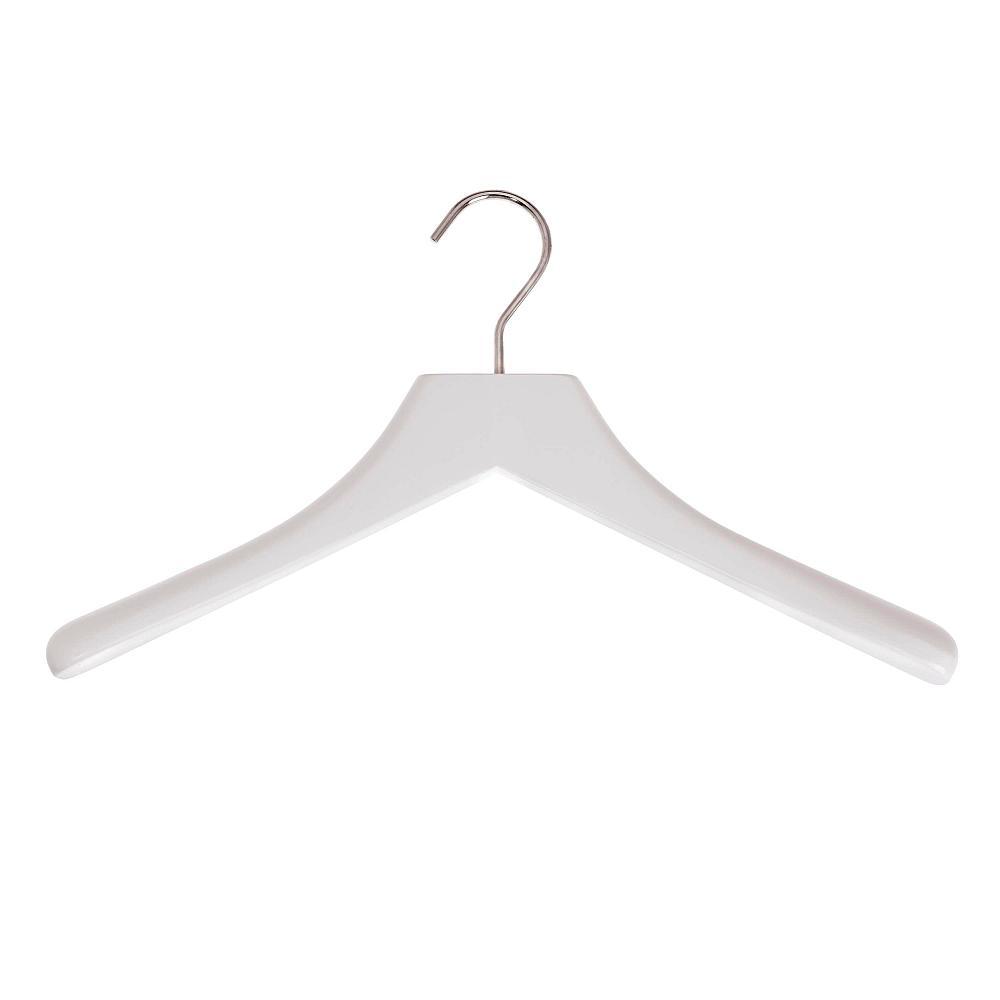 schönbuch Kleiderbügel 0112.27 grau-weiß Haken chrom glänzend