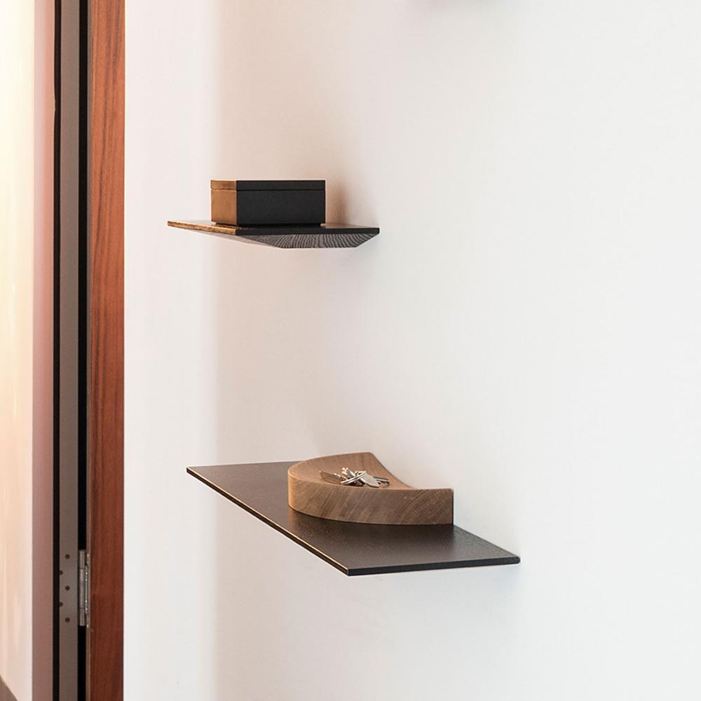 CUT Regal Board 30 cm Eiche, offenporig lackiert BASISFARBE nach Wahl