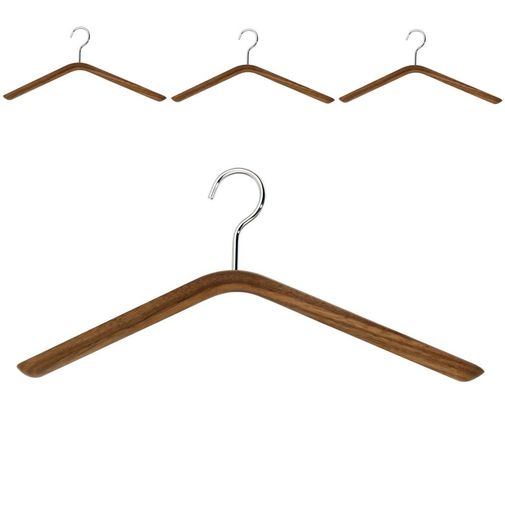 schönbuch Kleiderbügel 0121 Holz Nussbaum natur geölt, 4er-Set