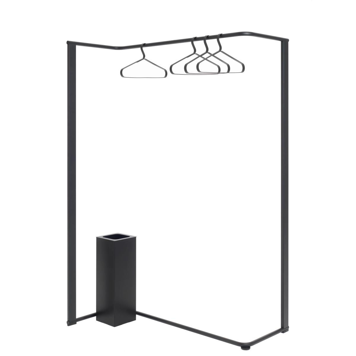 ANGLE Garderobenständer 1040 mit Schirmständer und passenden Kleiderbügeln