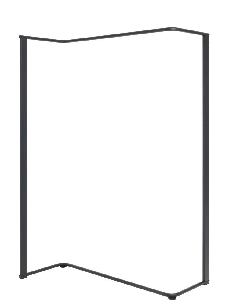 ANGLE Garderobenständer 1040, Rundrohr Stahl gepulvert schwarz