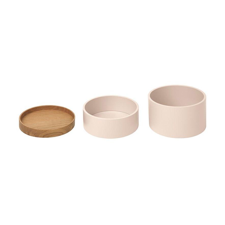 CAPSULE Holzdosen, vanille / Eiche, einzeln