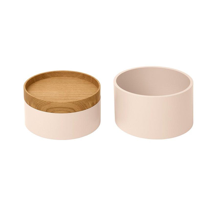 CAPSULE Holzdosen, vanille / Eiche, 2er