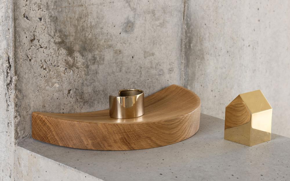 SPLIT BOWL Holzschale aus Nussbaum in zwei Teilen, Design Martha Schwindling