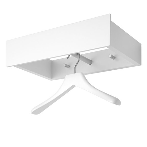 URBAN Wandgarderobe 40 cm mit Bügel 0112 weiß