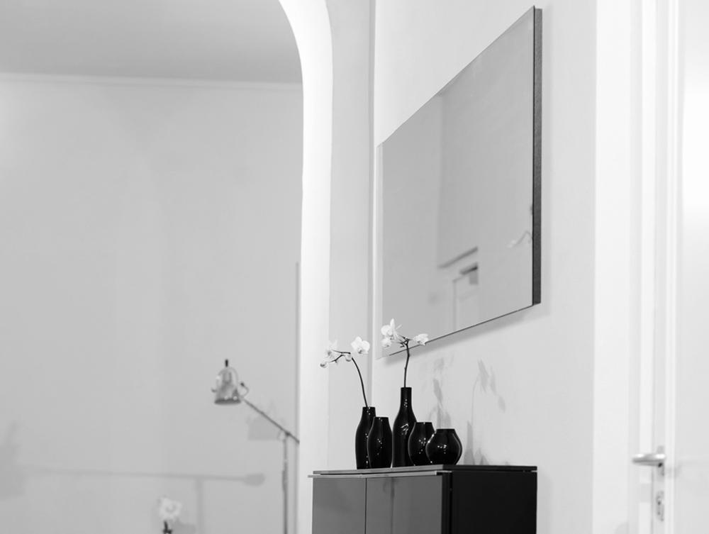 INDIVIDUAL II Spiegel rahmenlos nach Maß gefertigt, granit