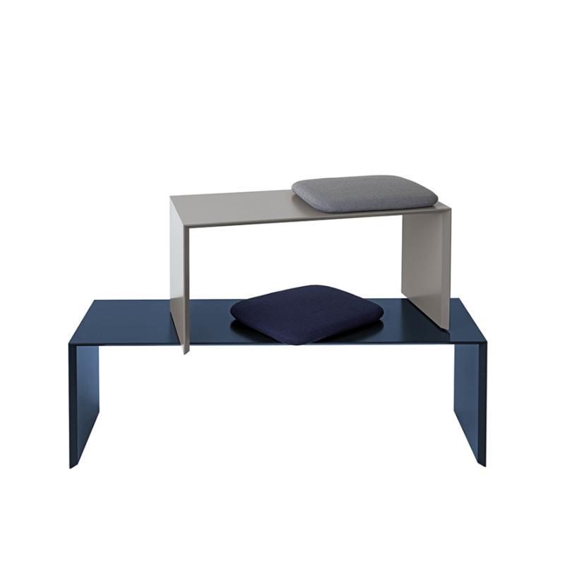 ADD ON Sitzbank, 120 und 80 cm, blau und grau