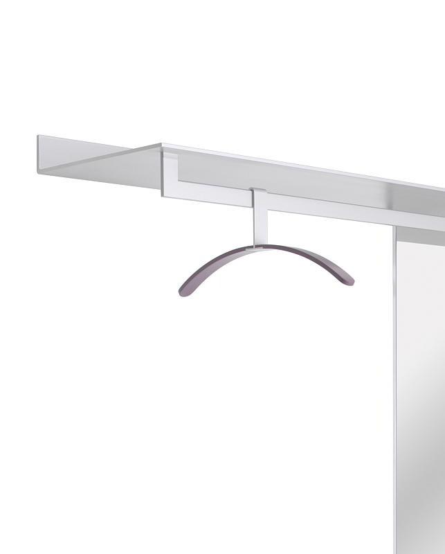 S7 Garderobenstange längs 39 cm, für das Board, Aluminium natur