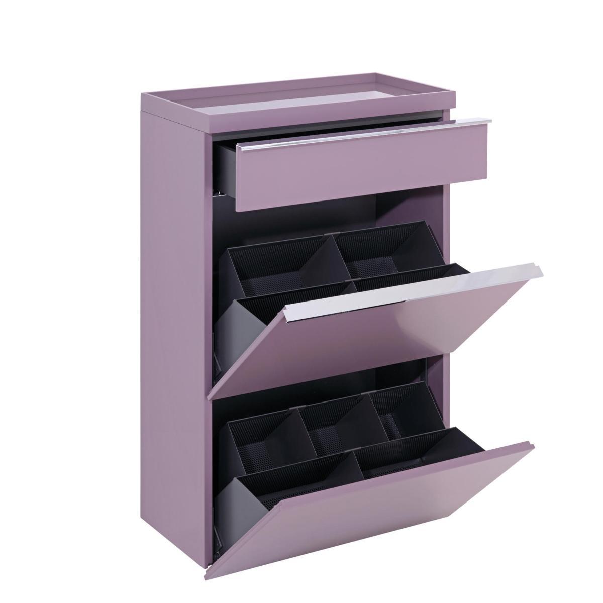 BASIC Schuhschrank mit Schublade und Ablagetablett, geöffnet