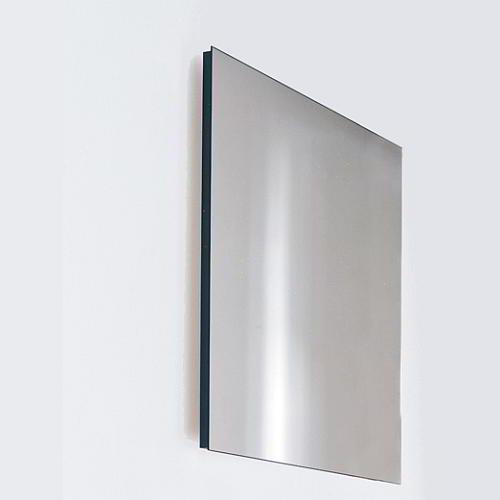 BASIC Spiegel 60 x 60 cm, Kante schwarz (verdeckt)