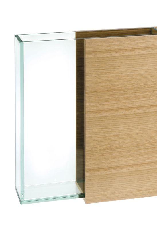 S7 Vase Weißeiche, Glas Einsatz kann entfernt werden