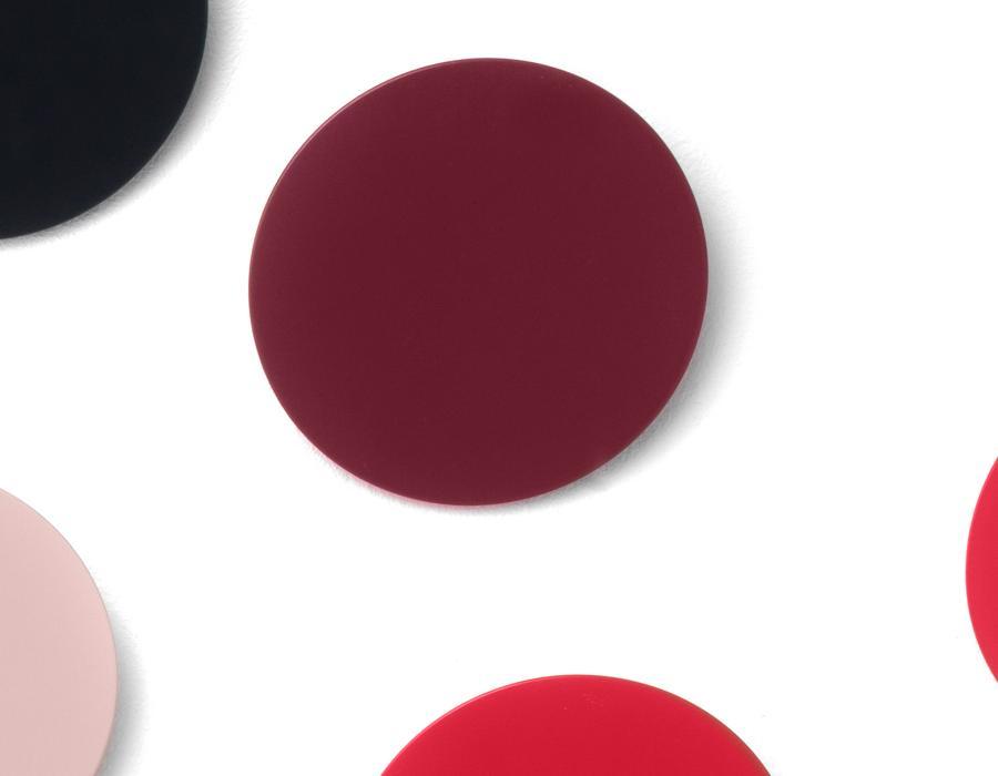 DISK Garderobenhaken Akzentfarbe weinrot