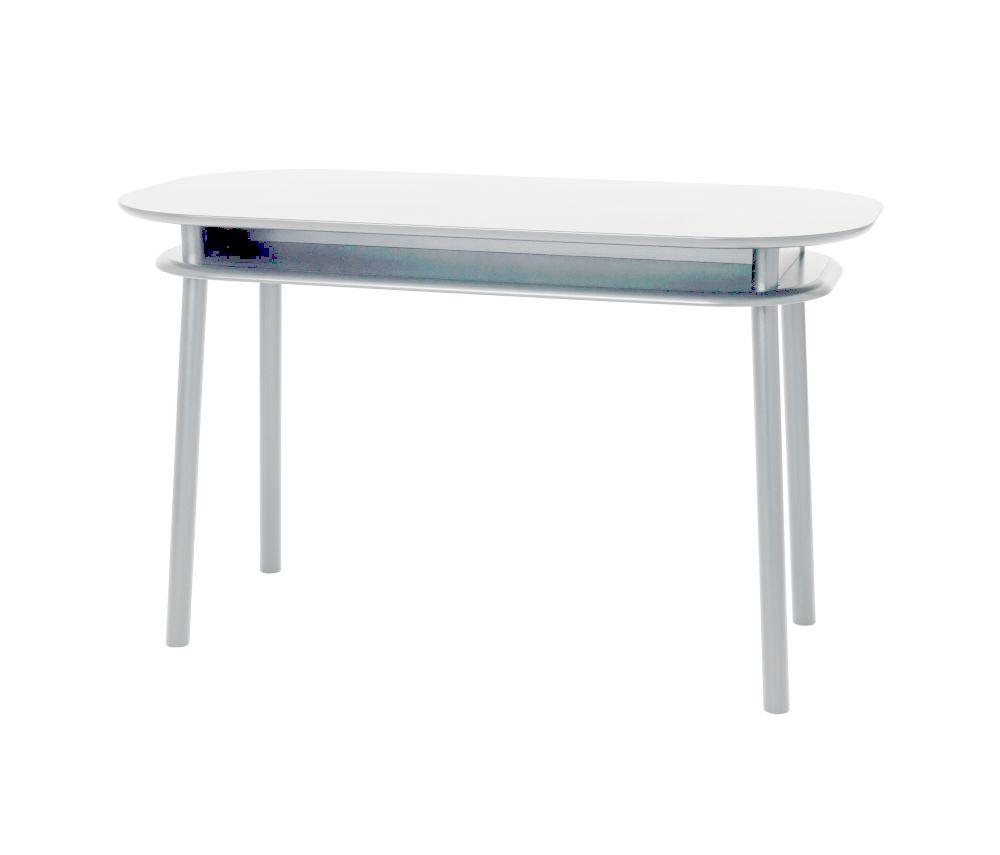 BUREAU Schreibtisch mit zwei Ebenen, AKZENTFARBE nach Wahl