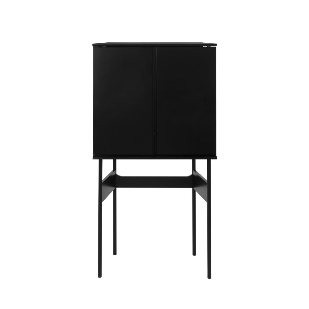 GUARD Barschrank in Basisfarbe schwarz matt lackiert