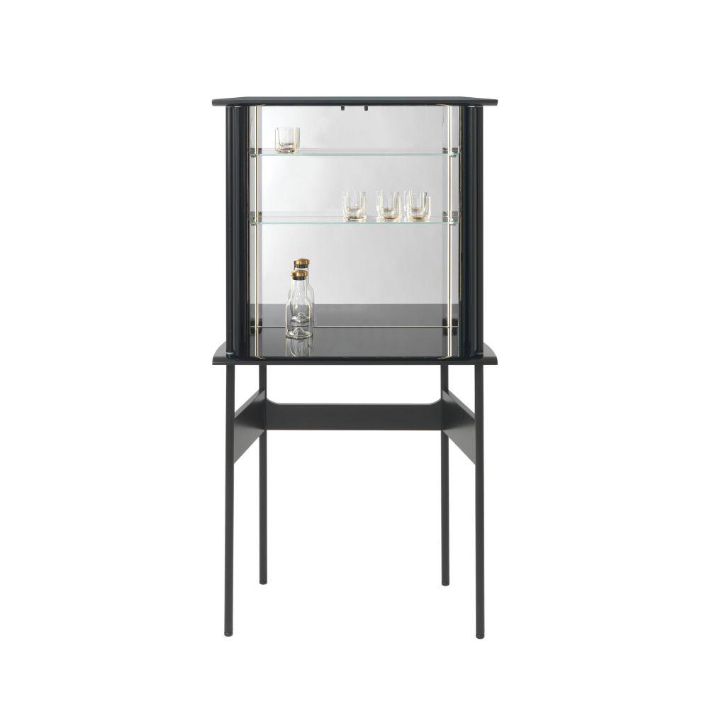 GUARD Barschrank, aufwändige Inneneinteilung mit Glasböden, Spiegeln und LED-Beleuchtung