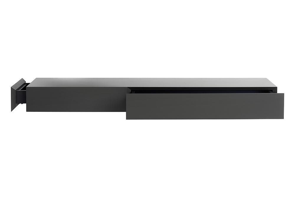 EPOCA Wandkonsole groß, kleine Schublade nach links, große Schublade auf der rechten Seite