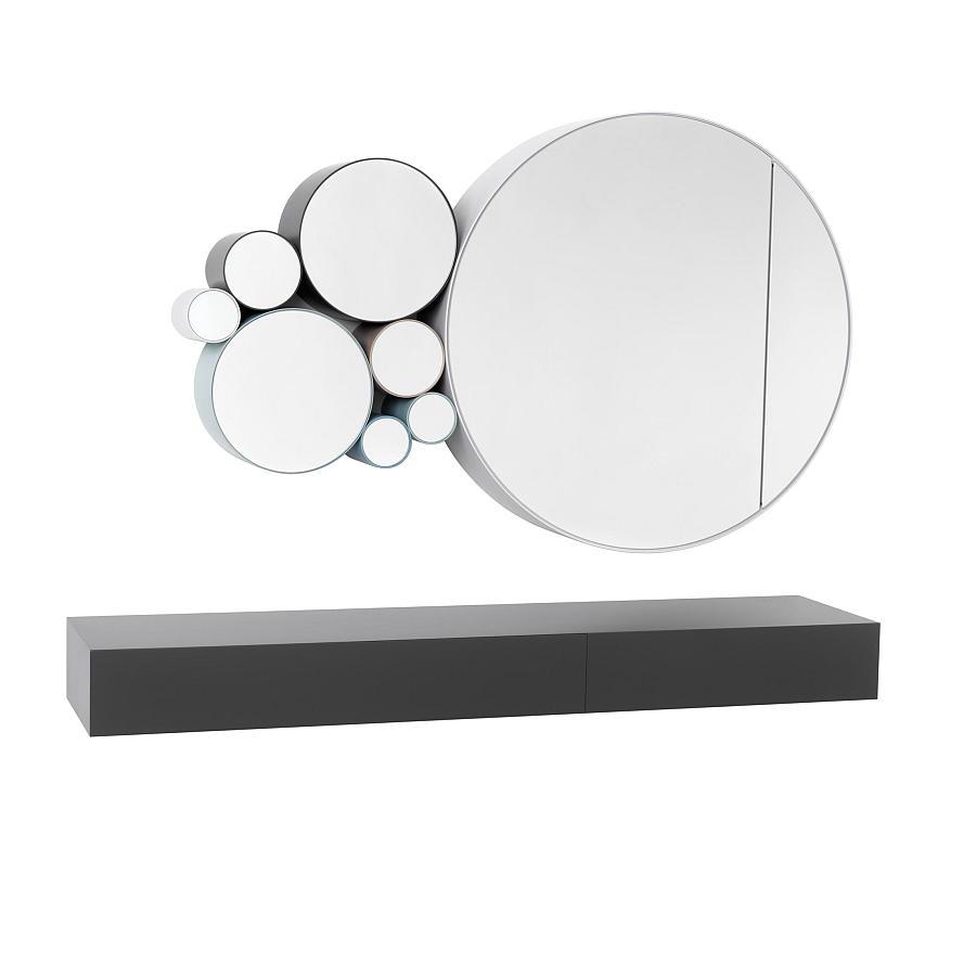 EPOCA Spiegelschrank mit verschieden großen Spiegeln aus der Serie kombiniert