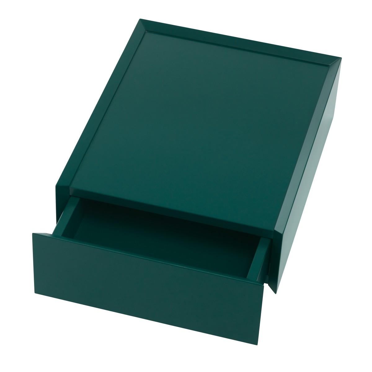 SOUVENIR Schubkastenbox klein smaragdgrün (42), geöffnet