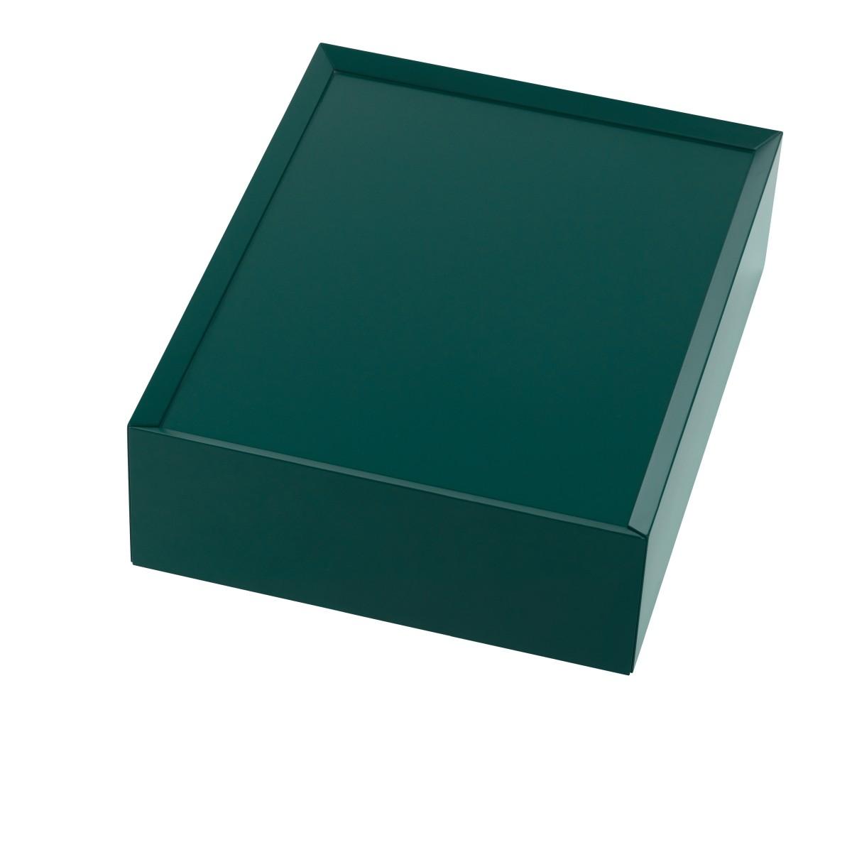 SOUVENIR Schubkastenbox klein smaragdgrün (42), geschlossen