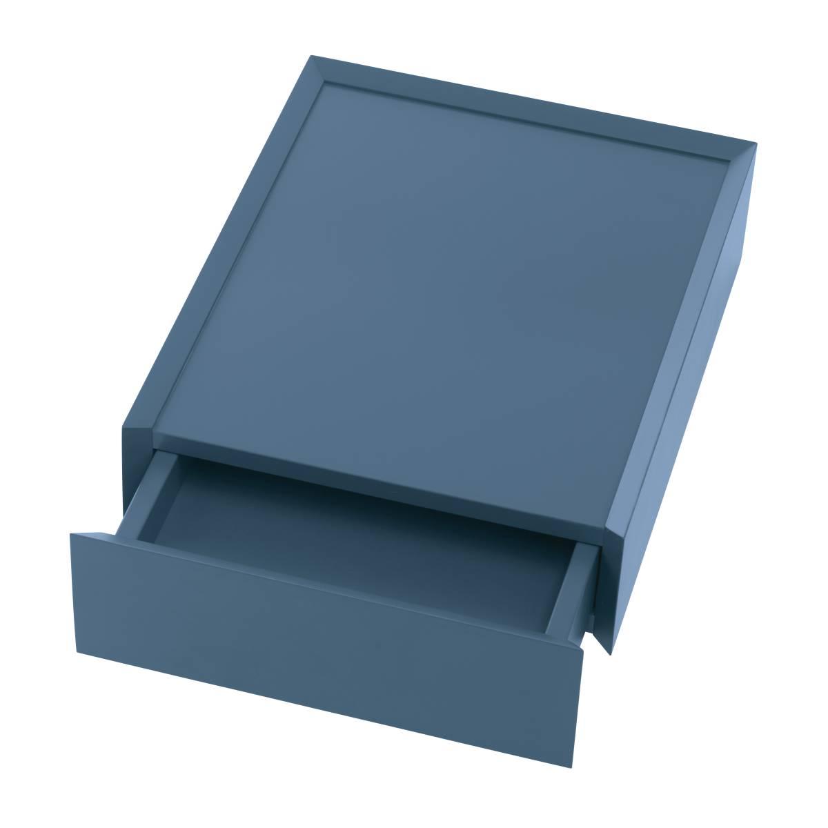 SOUVENIR Schubkastenbox klein stahlblau (68), geöffnet