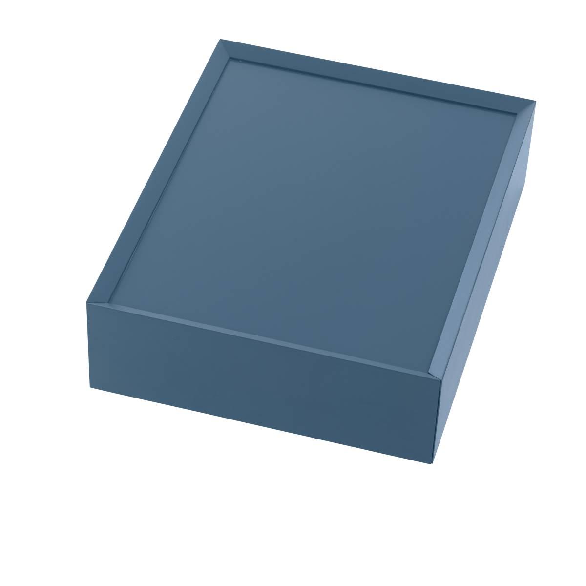 SOUVENIR Schubkastenbox klein stahlblau (68), geschlossen