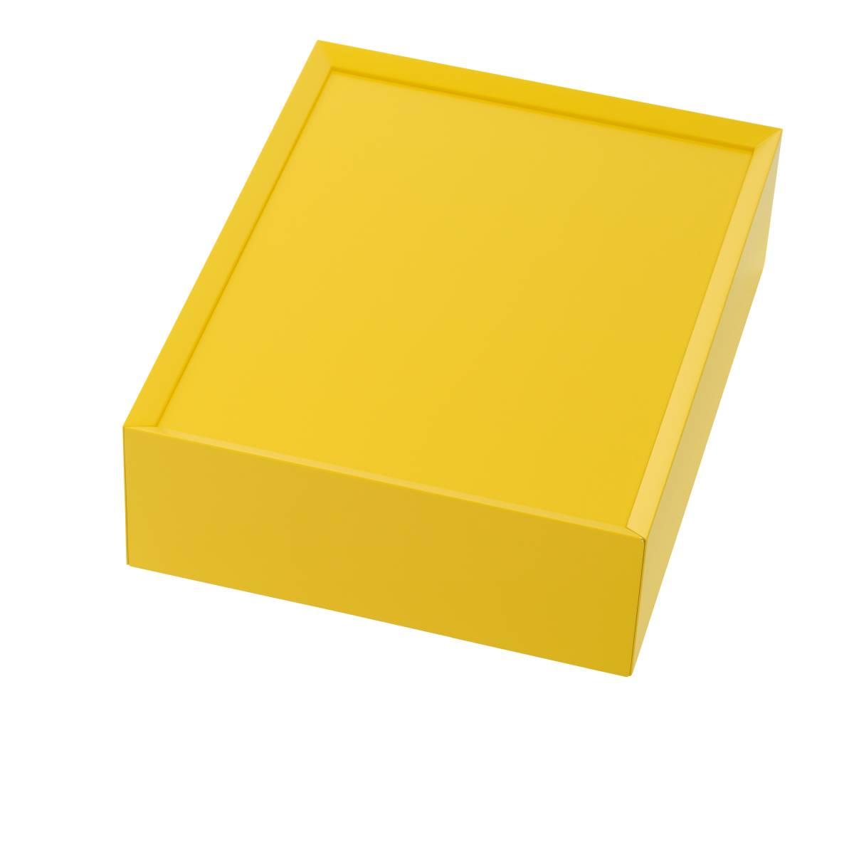 SOUVENIR Schubkastenbox klein zitrusgelb (69), geschlossen