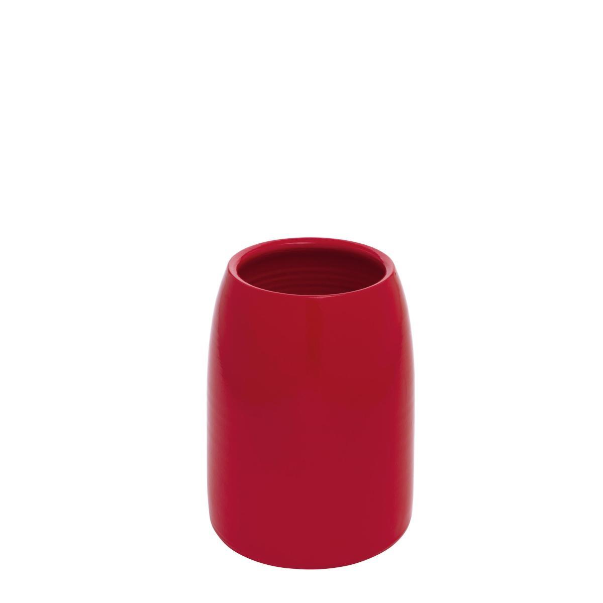 CARLA Vase Terrakotta klein tomatenrot (poppy)