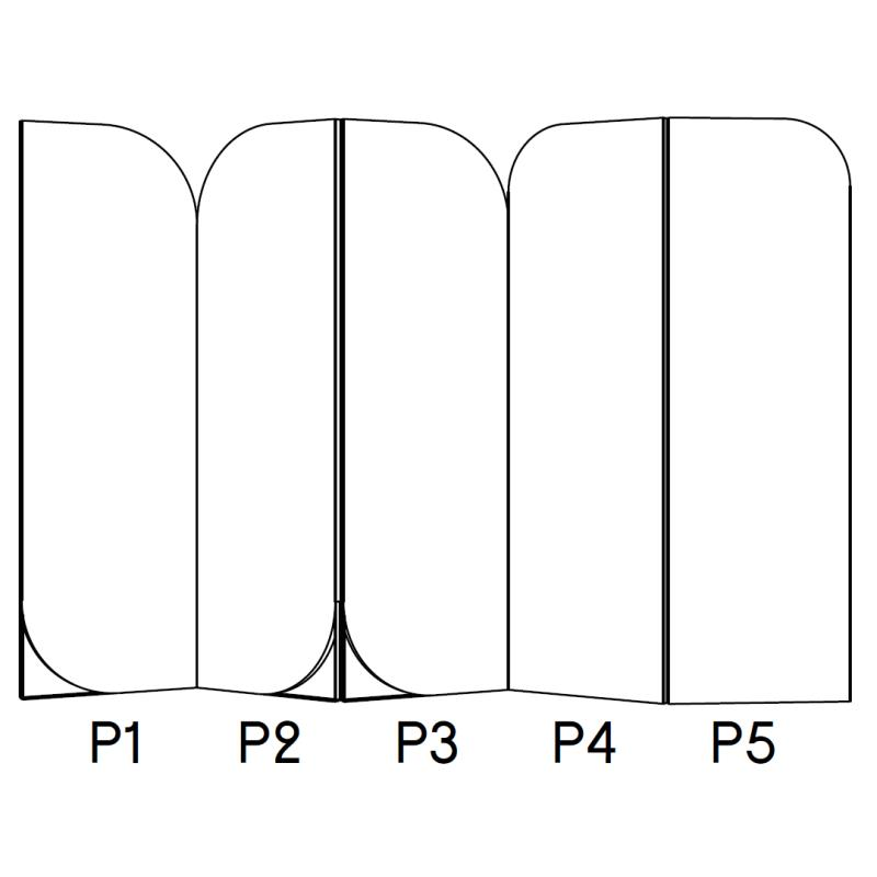 LOLA Raumteiler mit 5 Paneles