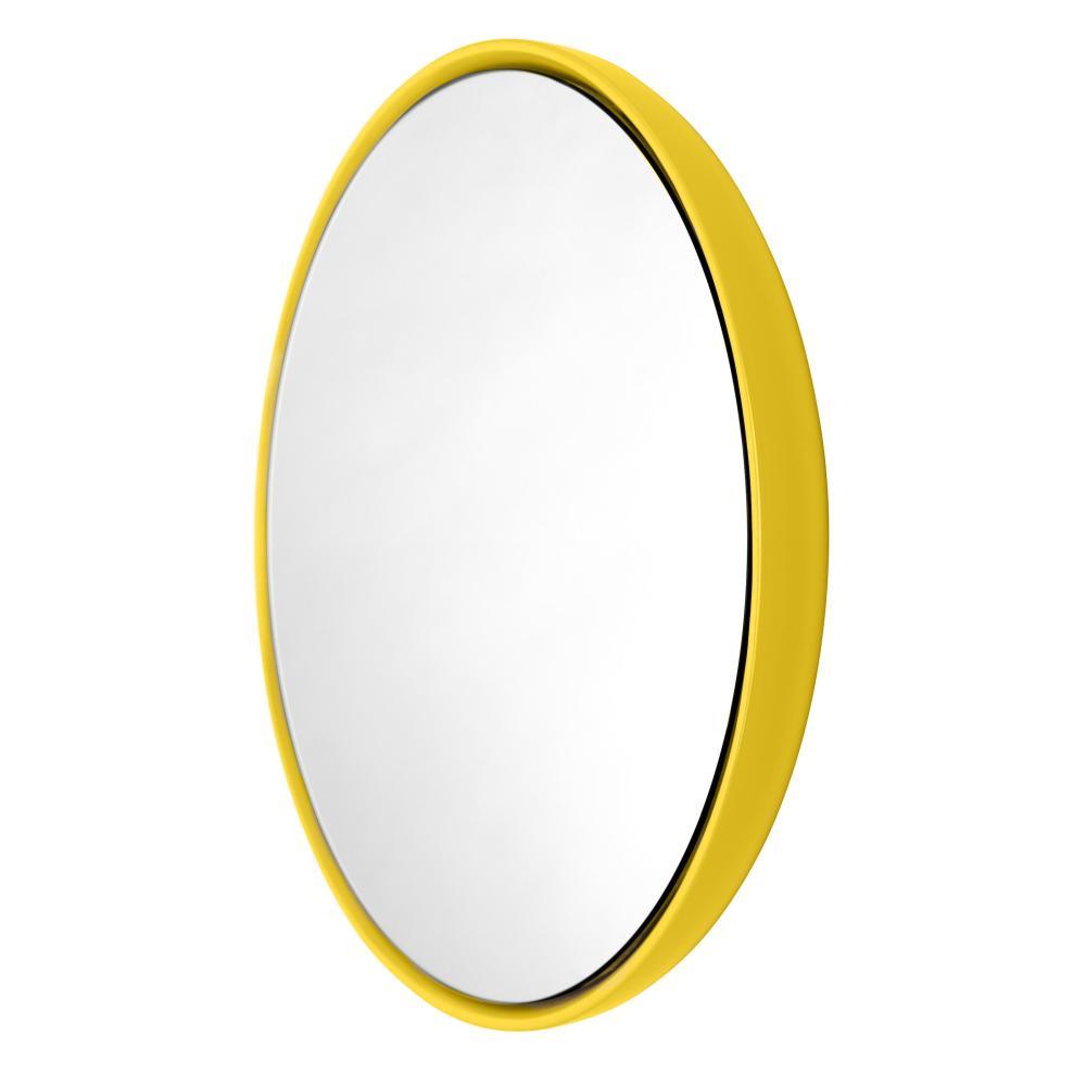BUBBLE Spiegel 42 cm Keramikglasur sun (gelb)