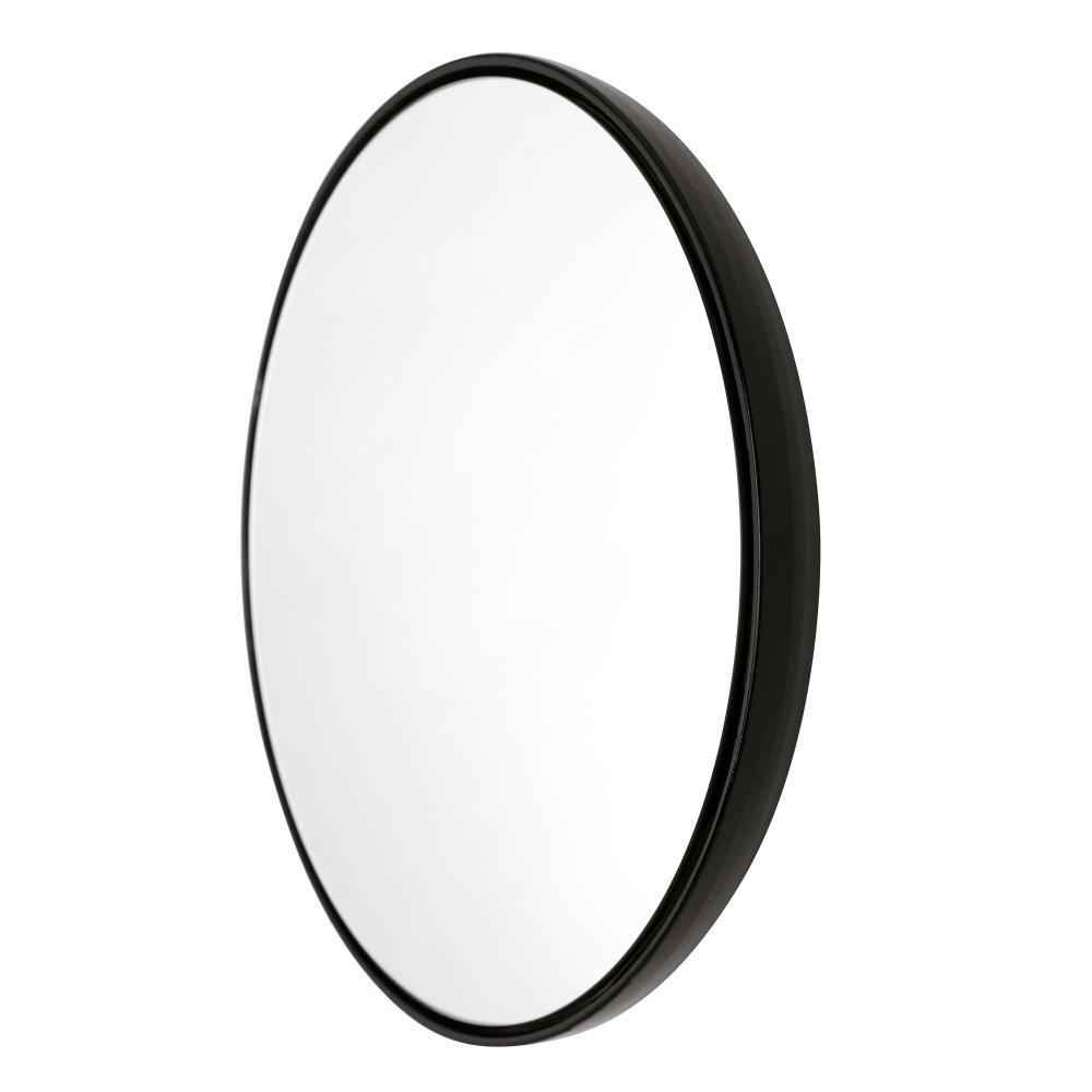 BUBBLE Spiegel 42 cm Keramikglasur charcoal (schwarz)