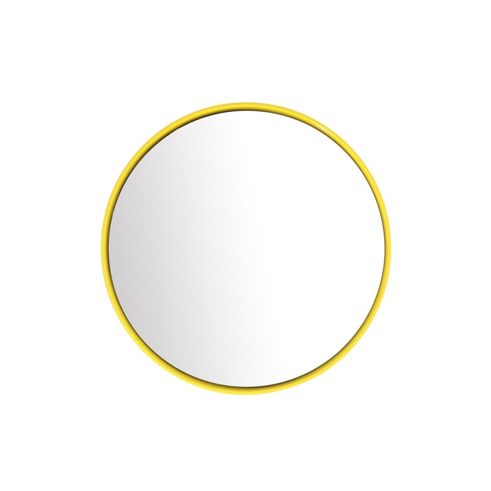 BUBBLE Spiegel 23 cm Keramikglasur sun (gelb)