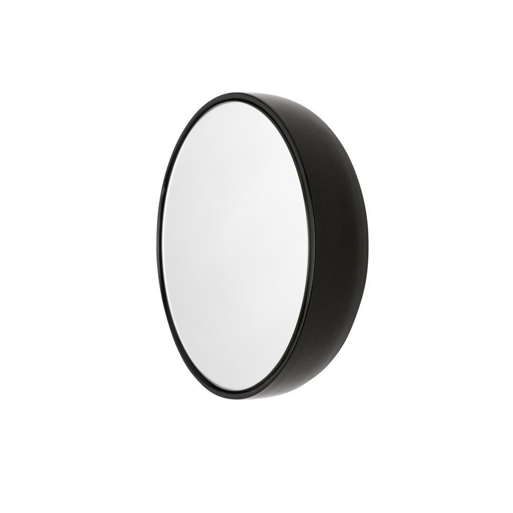 BUBBLE Spiegel 23 cm Keramikglasur charcoal (schwarz)