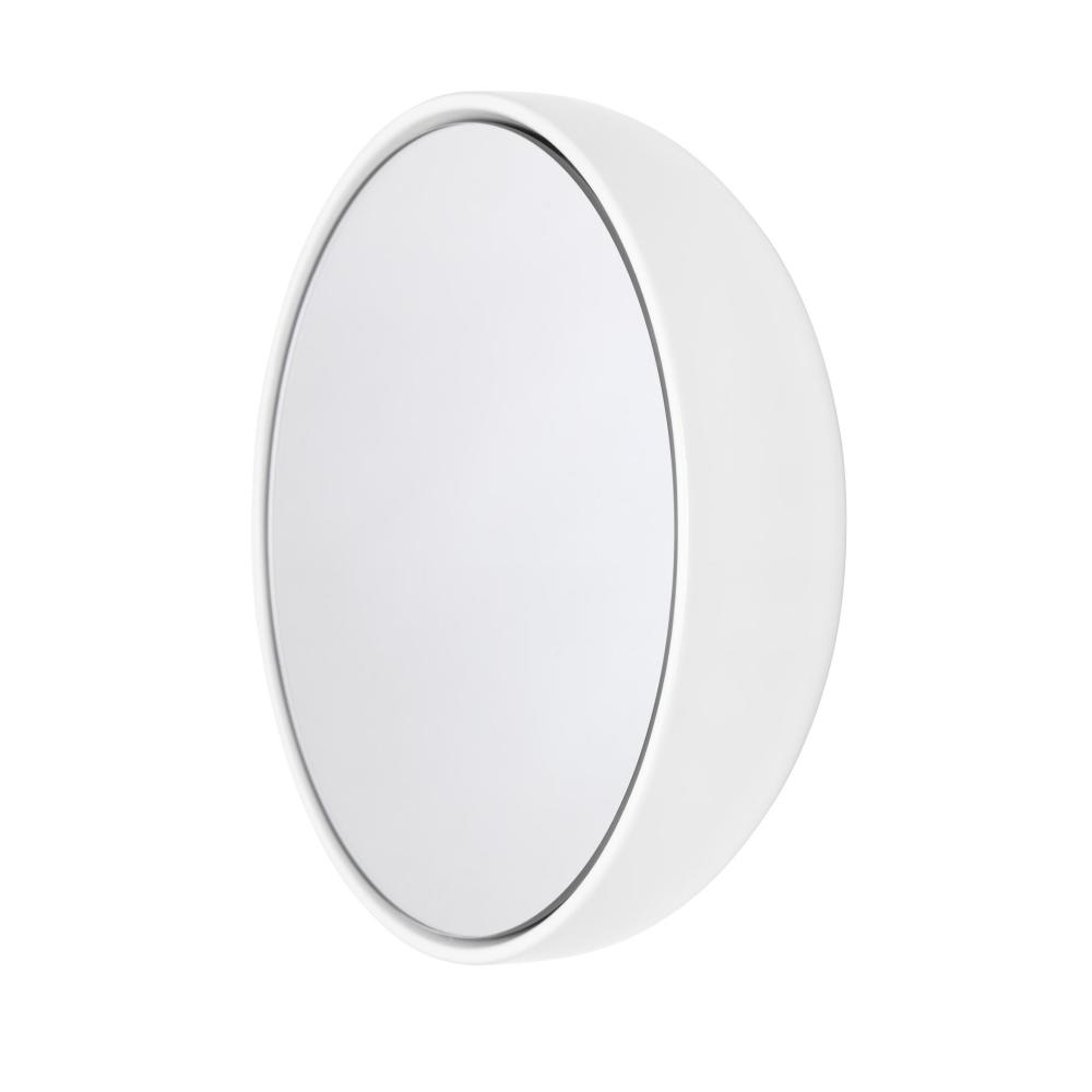 BUBBLE Spiegel 23 cm Keramikglasur cloud (weiß)