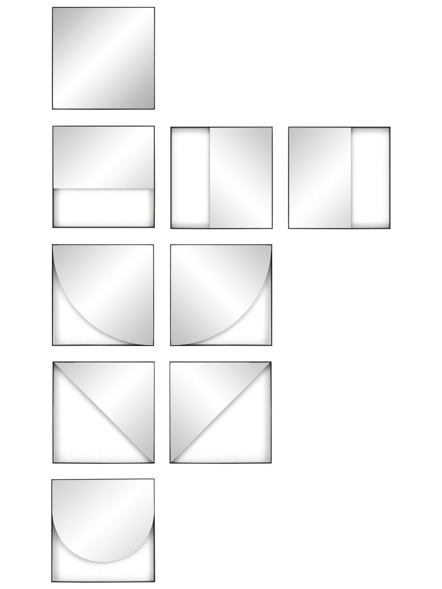 GEO Wandspiegel alle Modelle mit allen Aufhäng-Varianten