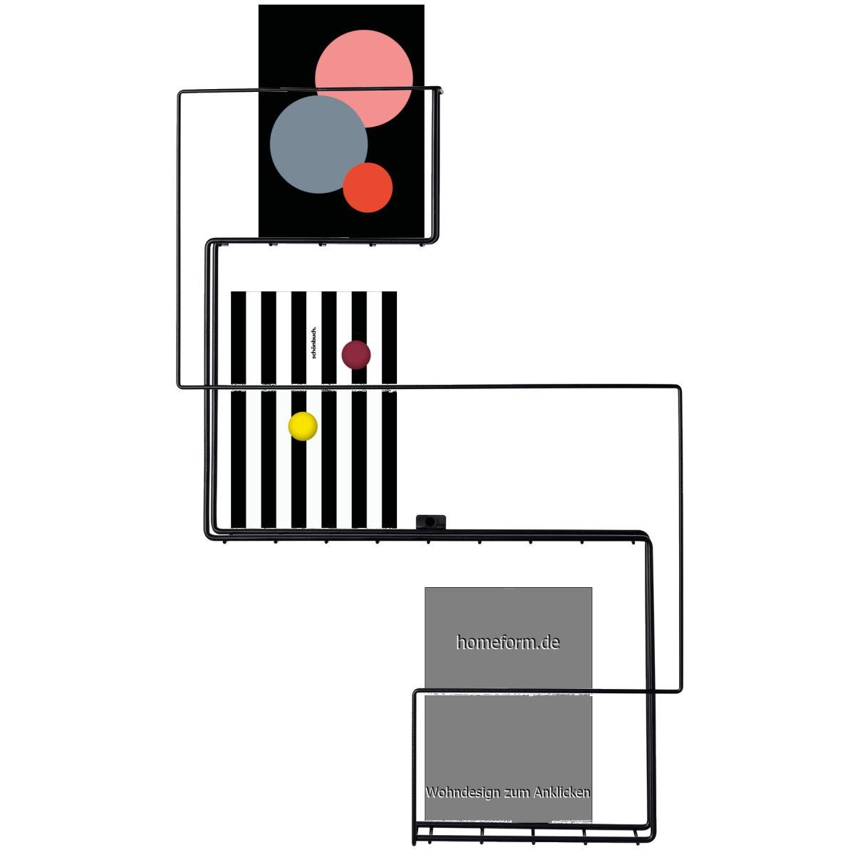 REVUE Magazinhalter / Prospekthalter schwarz