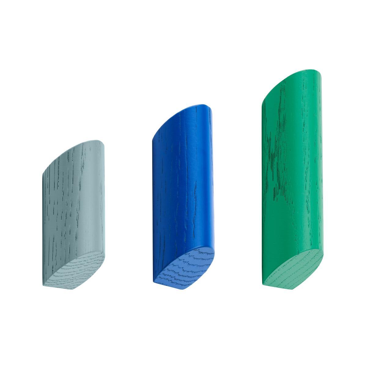 KUKI Wandhaken blau/grün 3er-Set