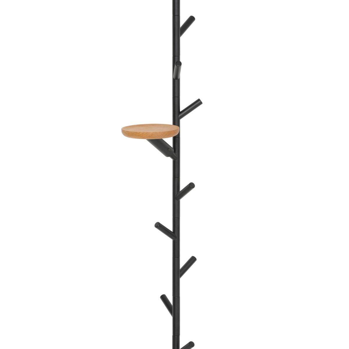 SUMI Spanngarderobe mit Ablage rund aus Eiche