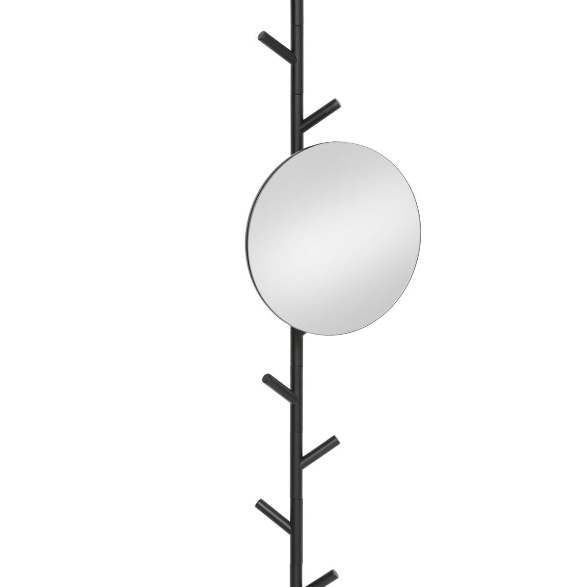 SUMI Spanngarderobe mit Spiegel 28 cm