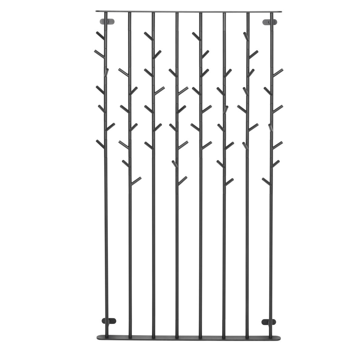 SUMI Wandgarderobe 104 cm breit, schwarz