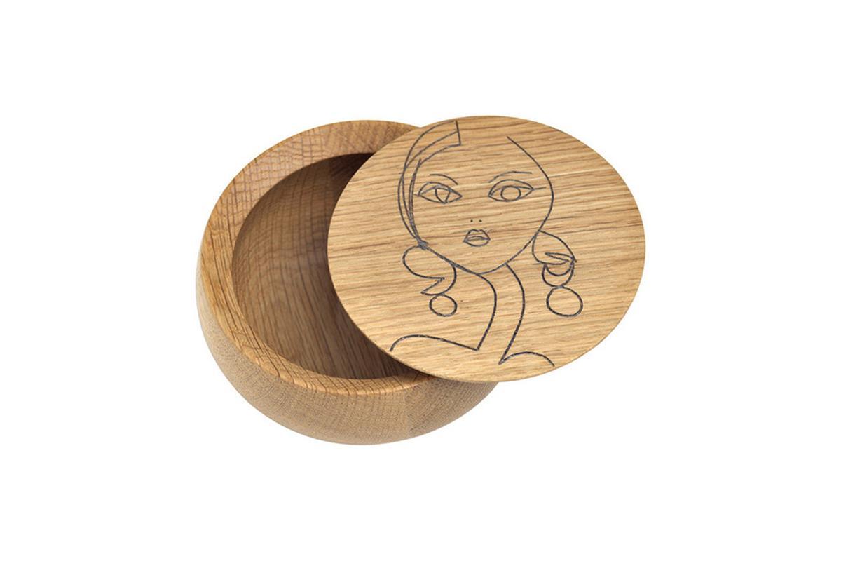 BOWL Holzdose mit Deckel Irma klein
