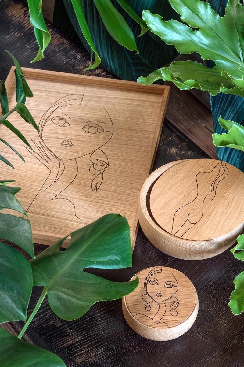 BOWL Holzdose mit Deckel Fine Art