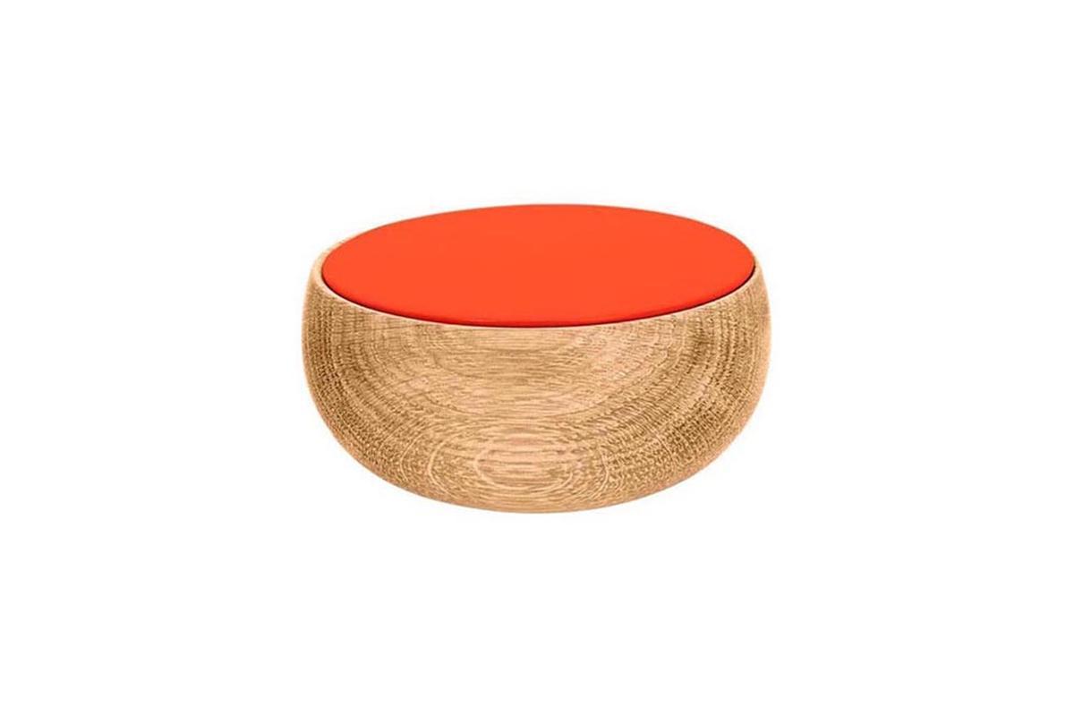 BOWL Holzdose mit Deckel klein Edition Milan, koralle