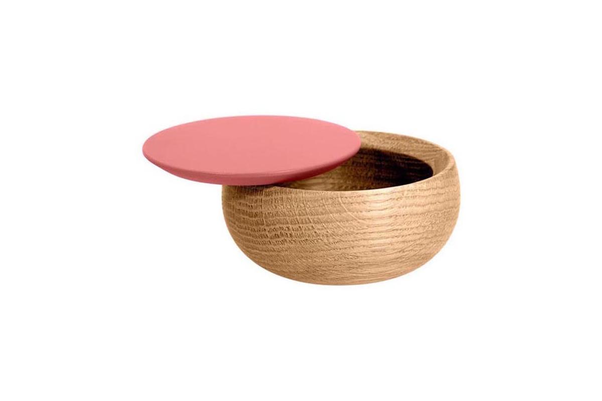 BOWL Holzdose mit Deckel klein Edition Milan, flamingo pink