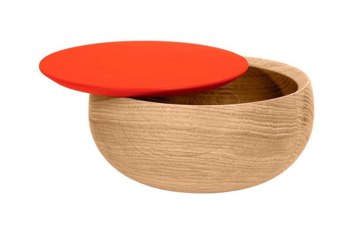 BOWL Holzdose mit Deckel groß Edition Milan, koralle