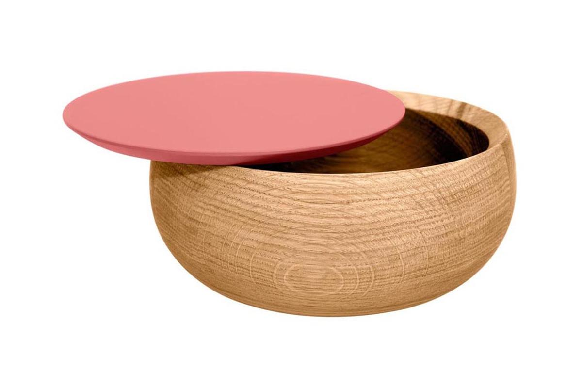 BOWL Holzdose mit Deckel groß Edition Milan, flamingo pink