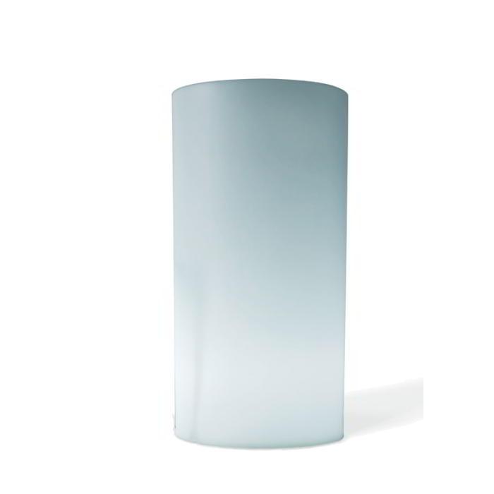 TUBINI Pflanzsäule beleuchtet H 90 cm Ø 46 cm weiß